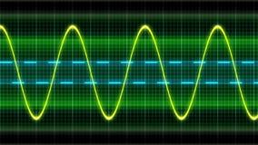 Безшовные закрепляя петлей волны синуса осциллограммы анимации сток-видео