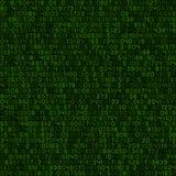 Безшовные зеленые обои предпосылки компьютерного кода десятичной вычислительной машины вектор бесплатная иллюстрация