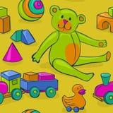 Безшовные игрушки детей бесплатная иллюстрация