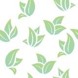 Безшовные листья зеленого цвета предпосылки Стоковые Изображения RF