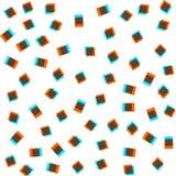 Безшовные картины в голубых цветах с геометрическими элементами Стиль битника картины Картина соответствующая для плакатов, откры Стоковые Фото