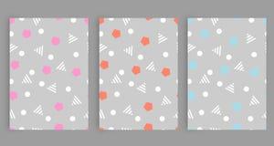 Безшовные картины в серых цветах с геометрическими элементами Стиль битника картины соответствующий для плакатов, открыток, ткани Стоковое фото RF
