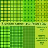 Безшовные картины на день St. Patrick Стоковые Изображения