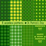 Безшовные картины на день St. Patrick Стоковое Фото
