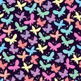 Безшовные картины с бабочками Стоковое Изображение RF