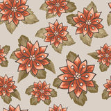 Безшовные картины с вектором цветков Стоковая Фотография
