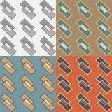 Безшовные картины с геометрическими элементами Стоковое Изображение