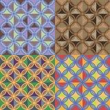 Безшовные картины с геометрическими элементами Стоковые Фотографии RF