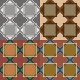 Безшовные картины с геометрическими элементами Стоковые Изображения RF
