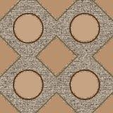 Безшовные картины с геометрическими элементами Стоковые Фото
