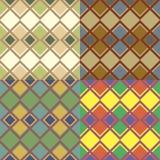 Безшовные картины с квадратами Стоковые Изображения RF