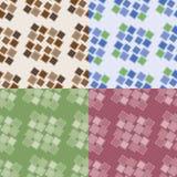 Безшовные картины с квадратами Стоковое Изображение RF