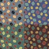 Безшовные картины с отрезанными формами Стоковые Фото
