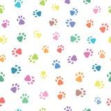 Безшовные картины с печатями животных Стоковые Изображения