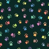 Безшовные картины с печатями животных Стоковая Фотография RF