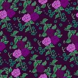 Безшовные картины с розами Стоковые Изображения