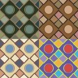 Безшовные картины с скачками квадратами и кругами Стоковые Изображения RF