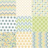 Безшовные картины с текстурой ткани иллюстрация вектора