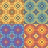 Безшовные картины с флористическими элементами Стоковые Фотографии RF