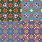 Безшовные картины с флористическими элементами Стоковое Фото