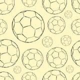Безшовные контуры футбольного мяча Стоковая Фотография RF