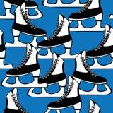 Безшовные коньки картины для фигурное катание Стоковая Фотография