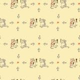 Безшовные кот и вино картины Стоковое Изображение