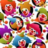 Безшовные красочные портреты клоуна бесплатная иллюстрация