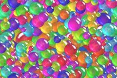 Безшовные красочные фиолетовые сферы и упаковочная бумага праздника пузырей Стоковые Изображения RF