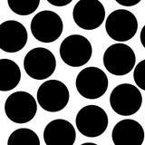 Безшовные круги, картина точек Плавно repeatable предпосылка точки польки Черно-белая версия s бесплатная иллюстрация