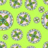 Безшовные круги конспекта картины Стоковое Изображение