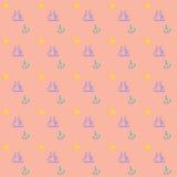 Безшовные морские элегантные обои предпосылки вектора темы Стоковые Фото