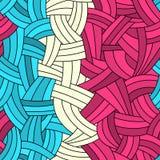 Безшовные нарисованный вручную линии предпосылка иллюстрация вектора