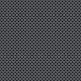 Безшовные обои вектора пефорированной серой металлической пластины Стоковые Изображения