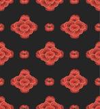 Безшовные обои красных цветков Стоковая Фотография RF