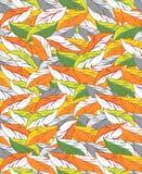 Безшовные обои листьев Стоковые Изображения