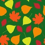 Безшовные обои от листьев осени иллюстрация вектора