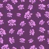 Безшовные орхидеи цветочного узора - иллюстрация Стоковые Изображения