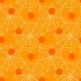 Безшовные пауки и предпосылка хеллоуина ударов сети Стоковая Фотография RF