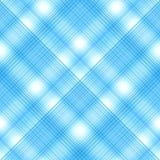 Безшовные перекрестные голубые цвета, checkered раскосная картина Вектор e Стоковые Изображения