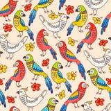 Безшовные попугаи Стоковая Фотография