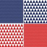 Безшовные предпосылки в красном белом голубом Дне независимости Стоковое Изображение RF