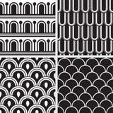 Безшовные предпосылки основанные на античных греческих орнаментах Стоковые Фотографии RF