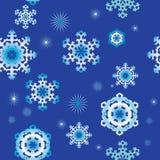 Безшовные предпосылки с снежинками Стоковые Изображения