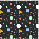 Безшовные примитивные геометрические картины минимализма Стоковая Фотография RF