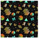 Безшовные примитивные геометрические картины минимализма Стоковое фото RF