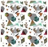 Безшовные примитивные геометрические картины минимализма Стоковая Фотография
