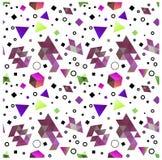 Безшовные примитивные геометрические картины минимализма Стоковые Изображения