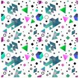 Безшовные примитивные геометрические картины минимализма Стоковое Изображение RF