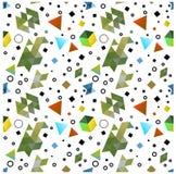 Безшовные примитивные геометрические картины минимализма Стоковое Изображение
